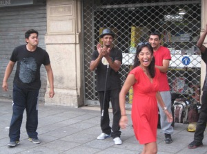 Dancing on the streets of Paris with a breakdance crew